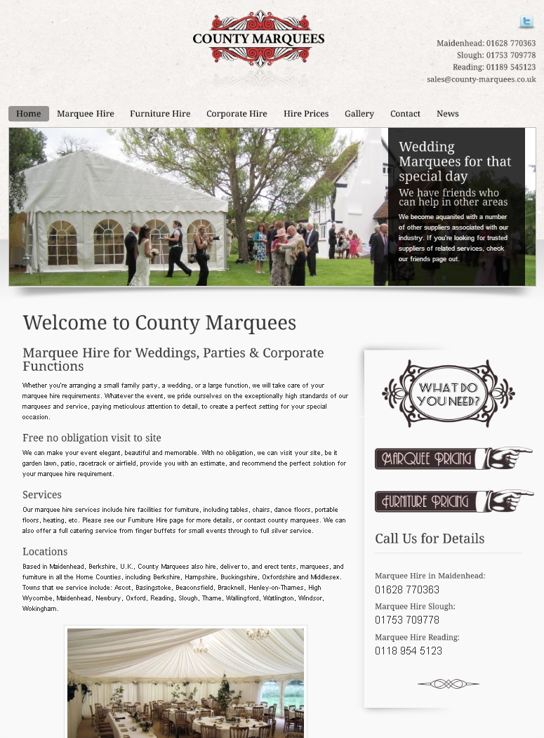 County Marquees - Marquee & Furniture Hire